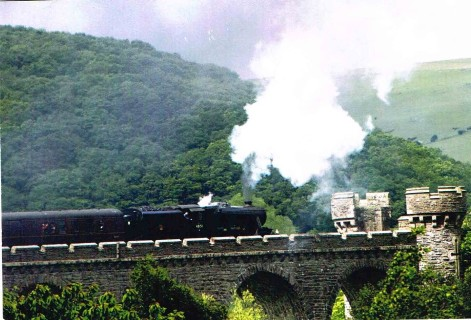 Steam over the viaduct